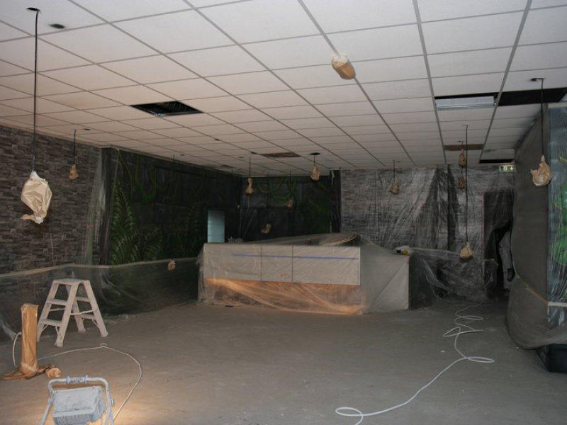 Latex spuiten systeemplafond bij glowgolf capelle aan den for Prijzen glasvliesbehang